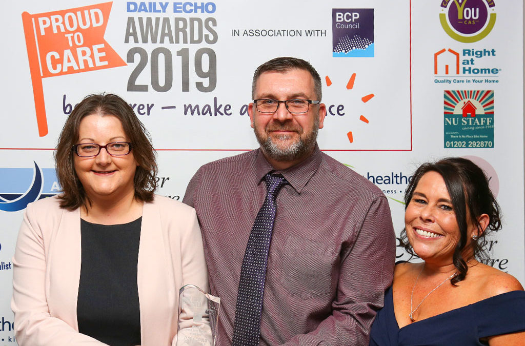 Jason Gould, Care Supervisor at Care Dynamics nomination of Home Care Worker of the Year 2019.